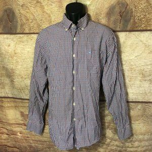 Southern Tide Button Front Shirt Blue Red Large